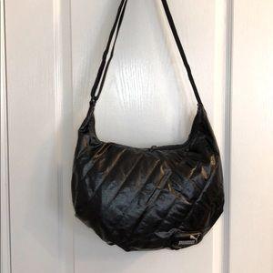 PUMA Black Quilted Nylon Crossbody messenger bag